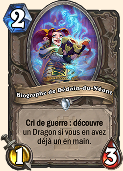 Biographe de Dédain-du-Néant carte Hearthstone
