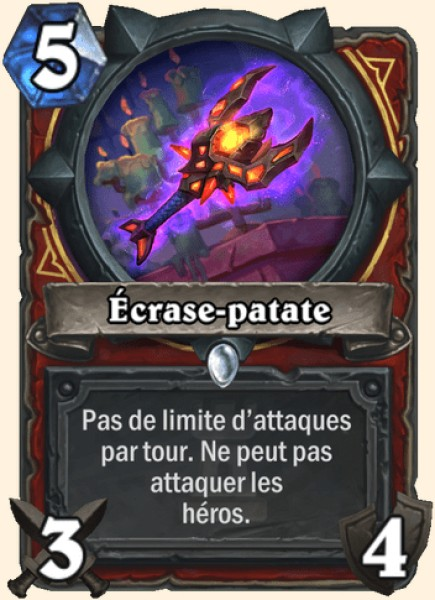 Écrase-patate carte Hearthstone