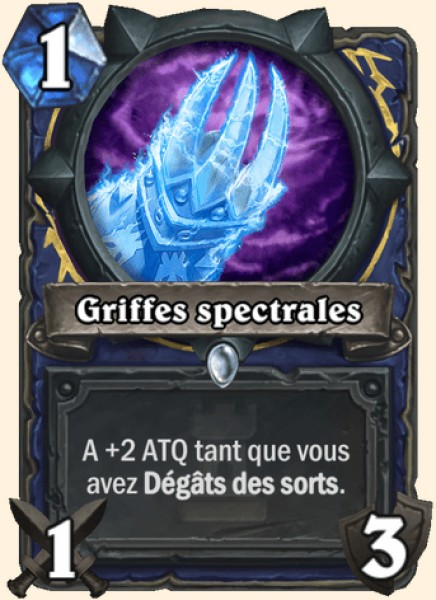 Griffes spectrales carte Hearthstone