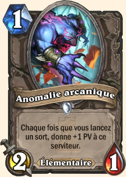 Anomalie arcanique carte Hearthstone