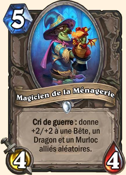 Magicien de la Ménagerie carte Hearthstone