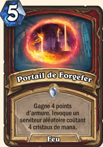 Portail de Forgefer carte Hearthstone
