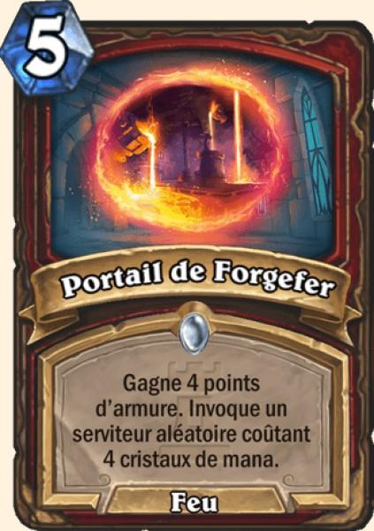 Portail de Forgefer carte Hearthstone