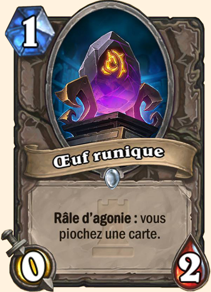 Œuf runique carte Hearthstone