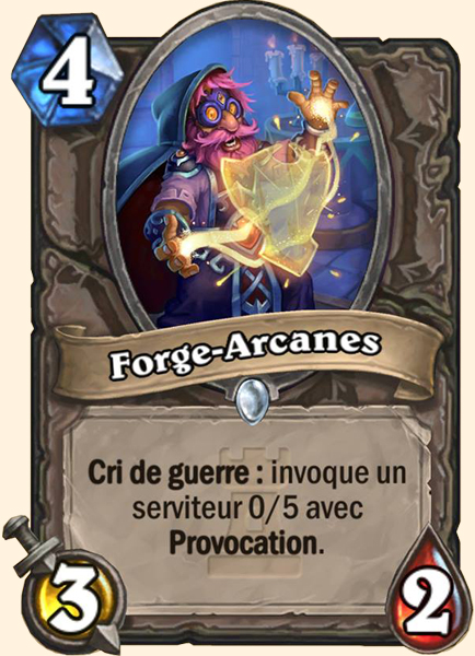Forge-Arcanes carte Hearthstone