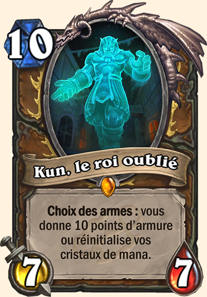 Kun, le roi oublié carte Hearthstone