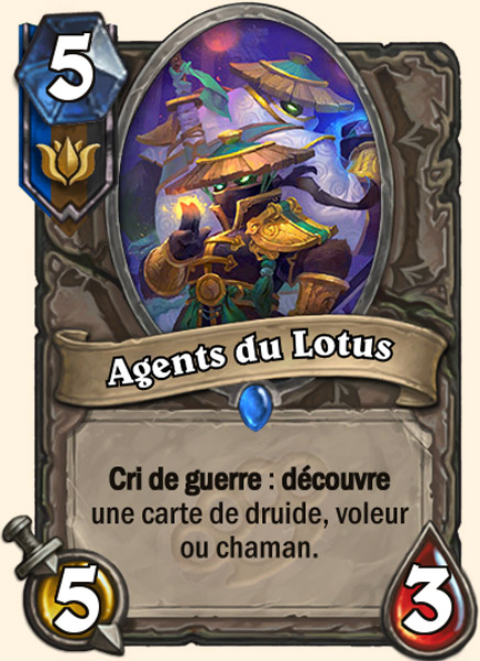 Agents du Lotus carte Hearthstone