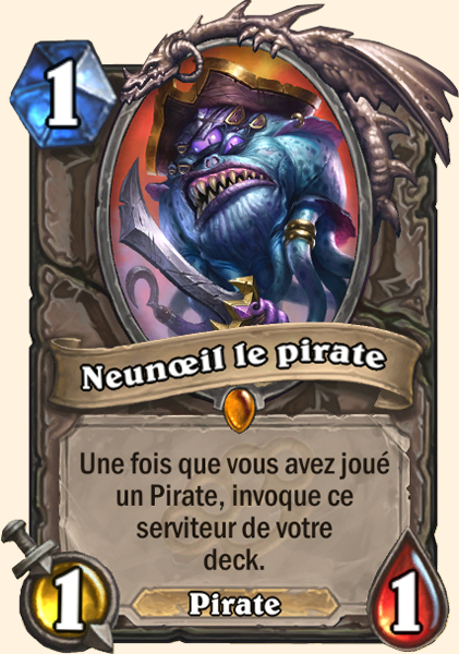Neunœil le Pirate carte Hearthstone