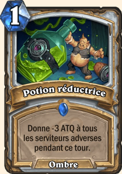 Potion réductrice carte Hearthstone