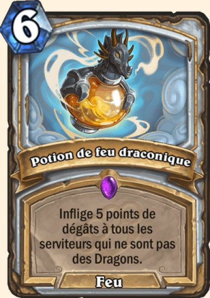 Potion de feu draconique carte Hearthstone