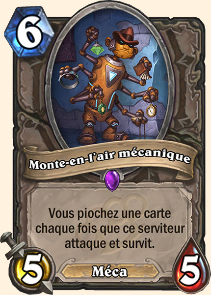 Monte-en-l'air mécanique carte Hearthstone
