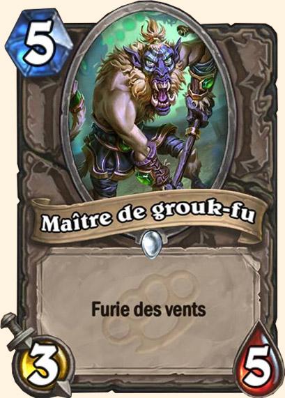 Maître de grouk-fu carte Hearthstone