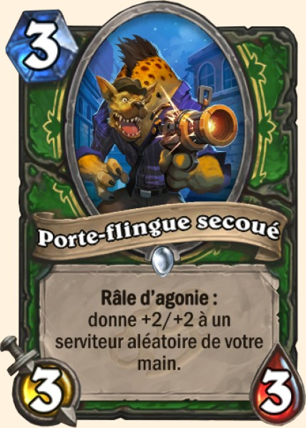 Porte-flingue secoué carte Hearthstone