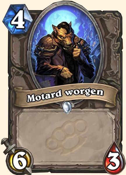 Motard Worgen carte Hearthstone