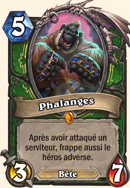 Phalanges carte Hearthstone