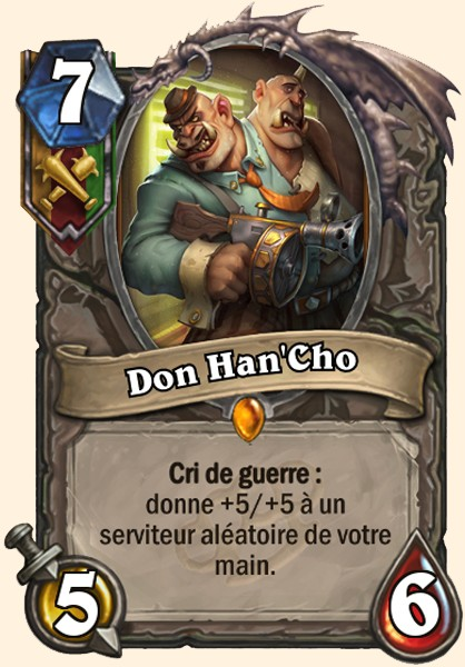 Don Han'Cho carte Hearthstone