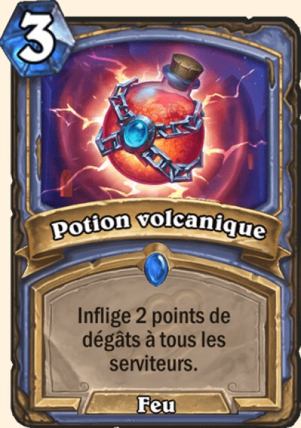 Potion volcanique carte Hearthstone