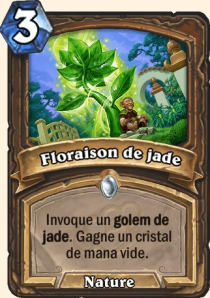 Floraison de jade carte Hearthstone