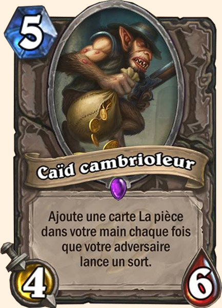 Caïd cambrioleur carte Hearthstone
