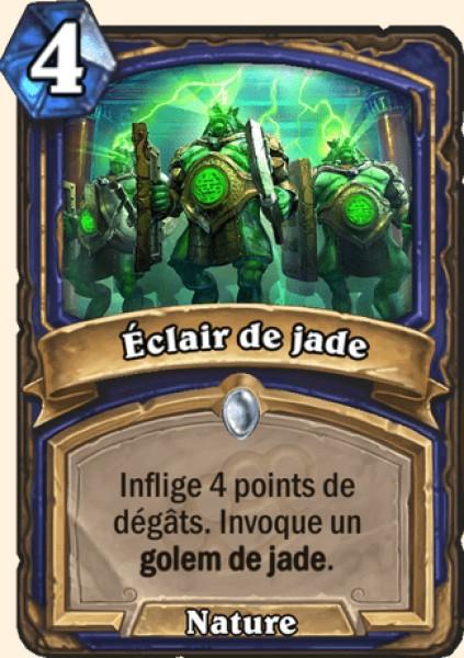 Éclair de jade carte Hearthstone