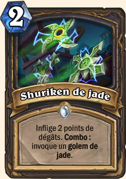 Shuriken de jade carte Hearthstone