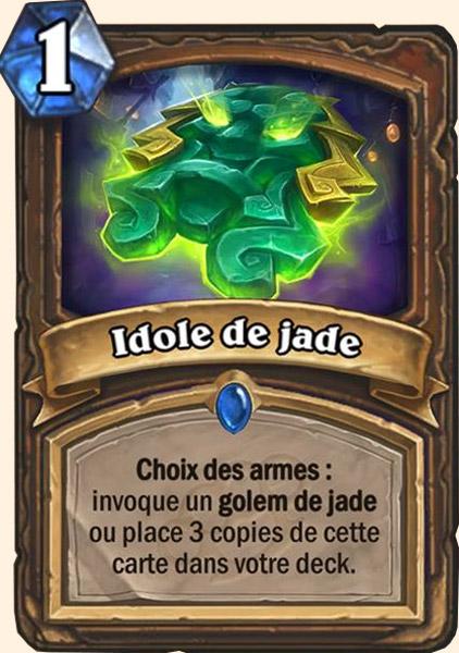 Idole de jade carte Hearthstone