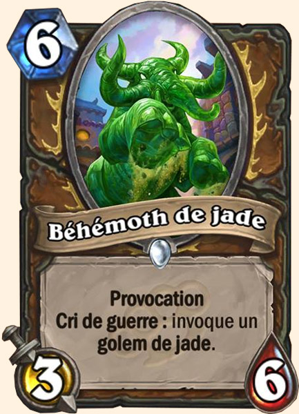 Béhémoth de jade carte Hearthstone