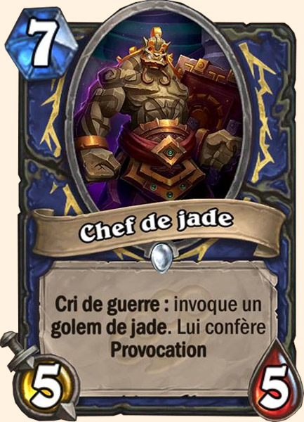 Chef de jade carte Hearthstone