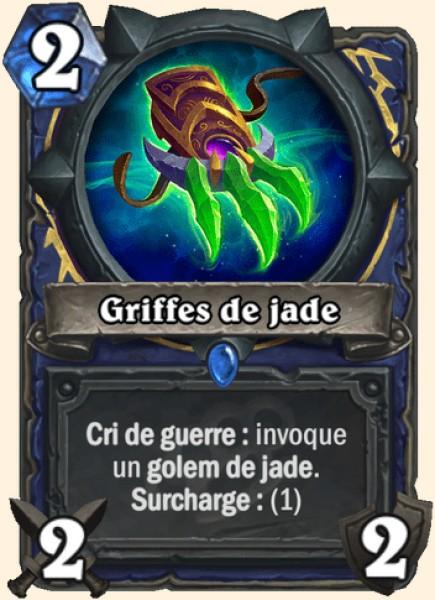 Griffes de jade carte Hearthstone