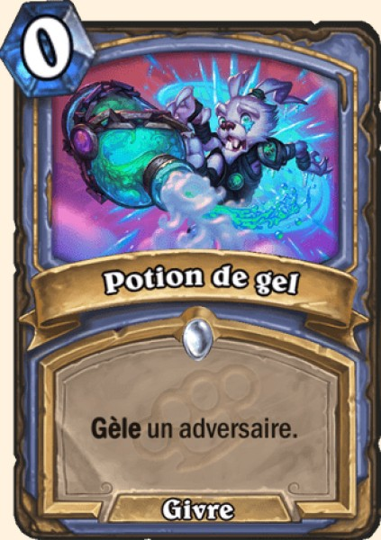 Potion de gel carte Hearthstone