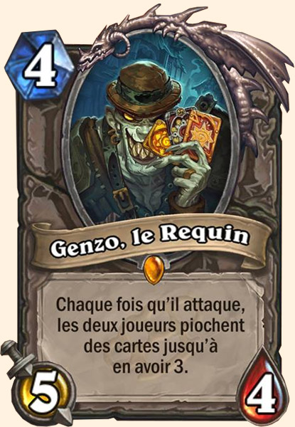 Genzo, le Requin carte Hearthstone