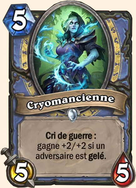 Cryomancienne carte Hearthstone