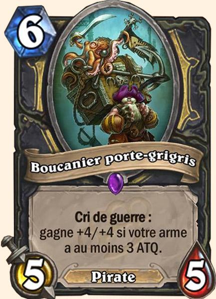 Boucanier porte-grigris carte Hearthstone