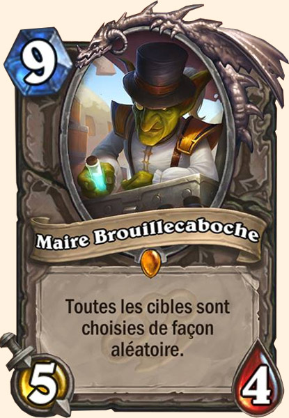 Maire Brouillecaboche carte Hearthstone