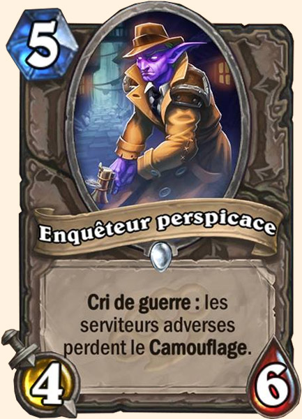Enquêteur perspicace carte Hearthstone