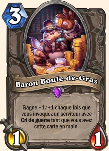Baron Boule-de-gras carte Hearthstone