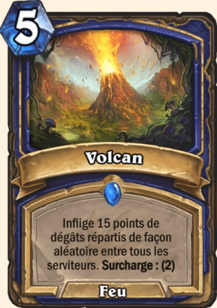 Volcan carte Hearthstone