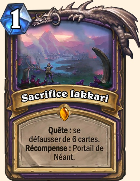 Sacrifice Lakkari carte Hearthstone