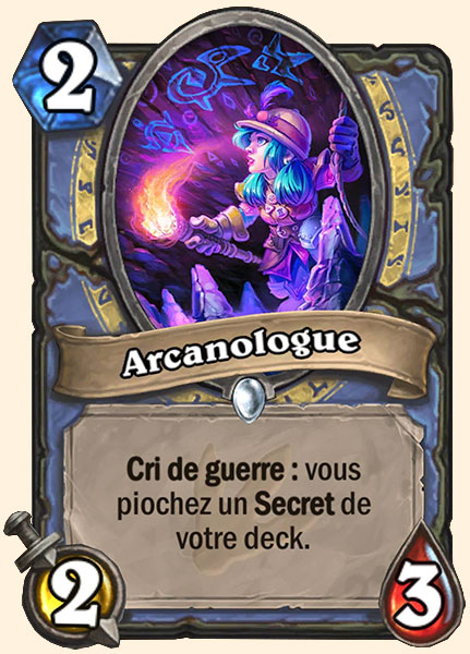 Arcanologue carte Hearthstone