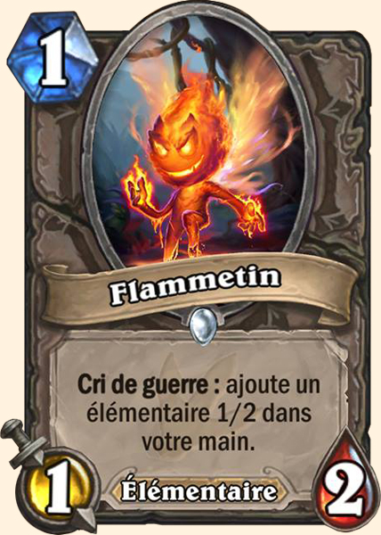 Flammetin carte Hearthstone