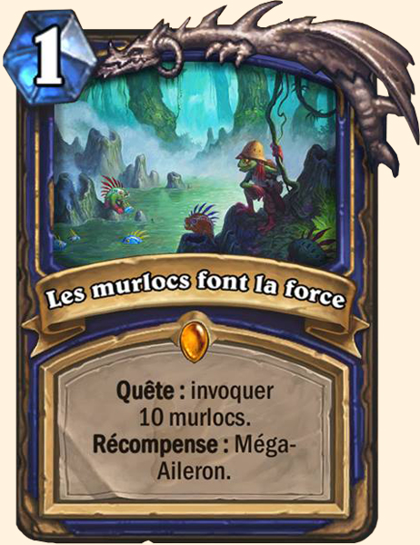 Les murlocs font la force carte Hearthstone
