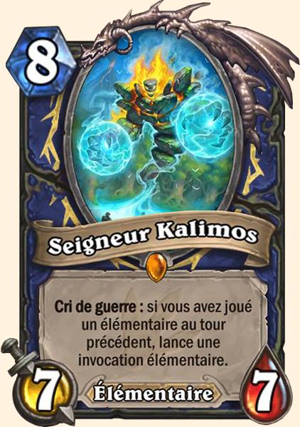 Seigneur Kalimos carte Hearthstone