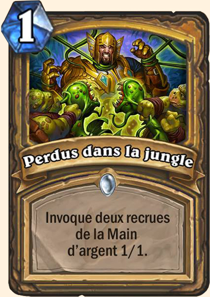 Perdus dans la jungle carte Hearthstone