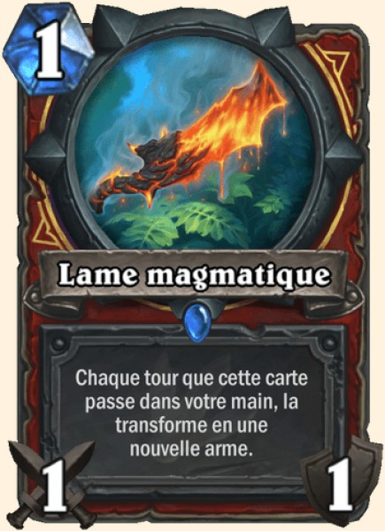 Lame magmatique carte Hearthstone