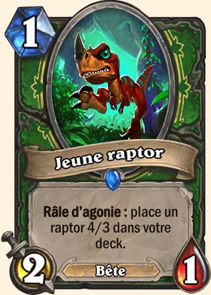 Jeune raptor carte Hearthstone