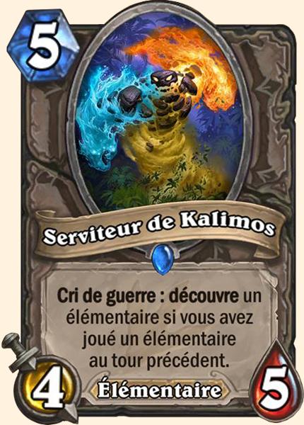 Serviteur de Kalimos carte Hearthstone