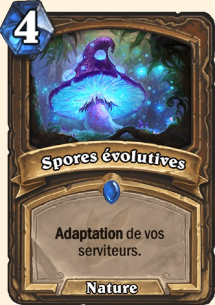 Spores évolutives carte Hearthstone