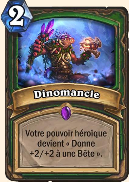 Dinomancie carte Hearthstone