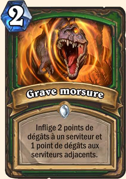 Grave morsure carte Hearthstone