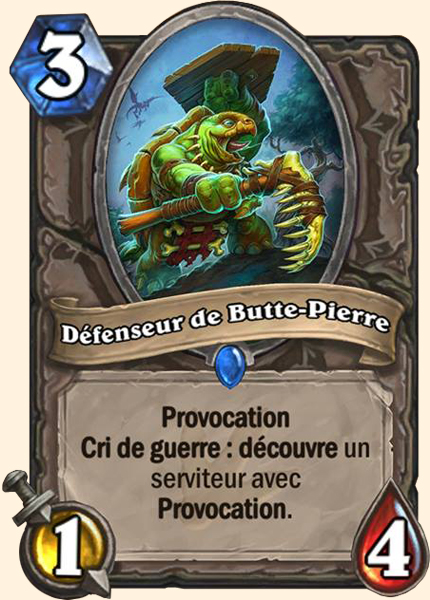 Défenseur de Butte-Pierre carte Hearthstone
